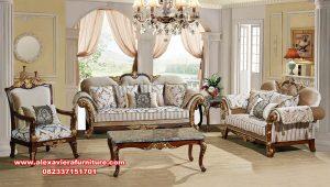 Set sofa tamu jati klasik mewah diandra Kt-515