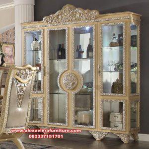 lemari kristal kaca klasik mewah naina ah-300