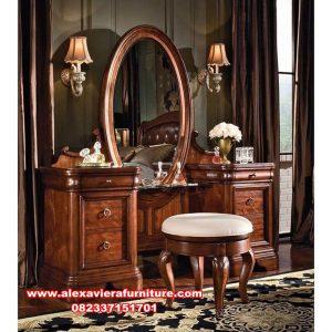 meja rias jati klasik mewah kualitas furniture jepara mr-197