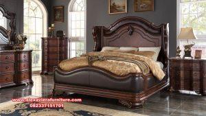 set kamar tidur jati klasik minimalis terbaru waldrof skt-297