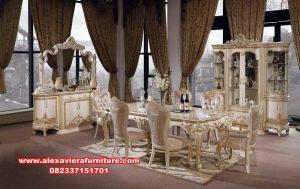 Set meja makan gold luxury mewah elegan kassiopea Km-519