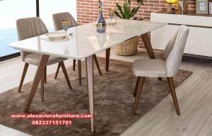 set meja makan minimalis jati modern iznik km-530