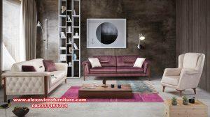 set sofa modern minimalis retro kayu jati mewah kt-544