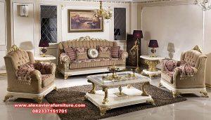 set sofa ruang tamu mewah klasik duco malika design kt-542