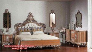 tempat tidur kayu ukir mewah klasik genewa skt-315