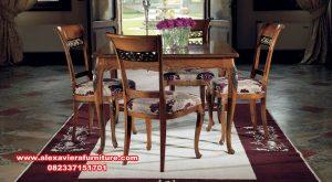 set meja makan 4 kursi klasik kayu jati km-541