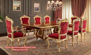 set meja makan villave classic luxurious km-537