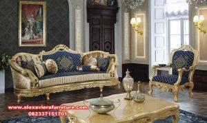 Set sofa gold mewah modern kahfi klasik Kt-549