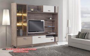set bufet tv modern minimalis model partisi ah-309