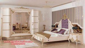 tempat tidur mewah classic luxury mahoganny duco skt-323