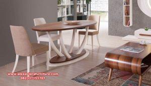Set meja makan gading modern minimalis duco Km-567