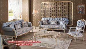 Sofa Ruang Tamu Model Terbaru Mervindo Klasik Kt-578