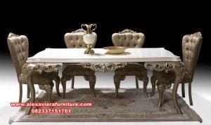 Set meja makan klasik mewah milano odalar Km-571