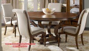 Produk furniture dining set hoocker teak wood classic Km-575