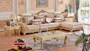 Sofa kursi tamu mewah duco klasik ukir model sudut Kt-588