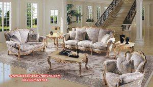 Sofa ruang tamu klasik gold davinci Kt-587