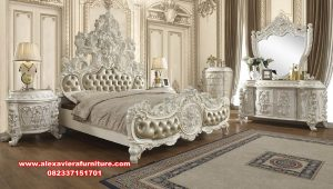 set tempat tidur pengantin klasik termewah eropa skt-346