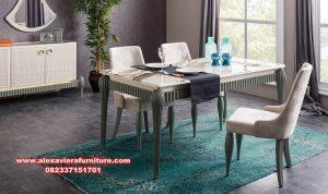 Set meja makan minimalis modern zumrut khatulistiwa Km-565