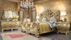 Bedroom set luxury elegant galmour gold duco Skt-348
